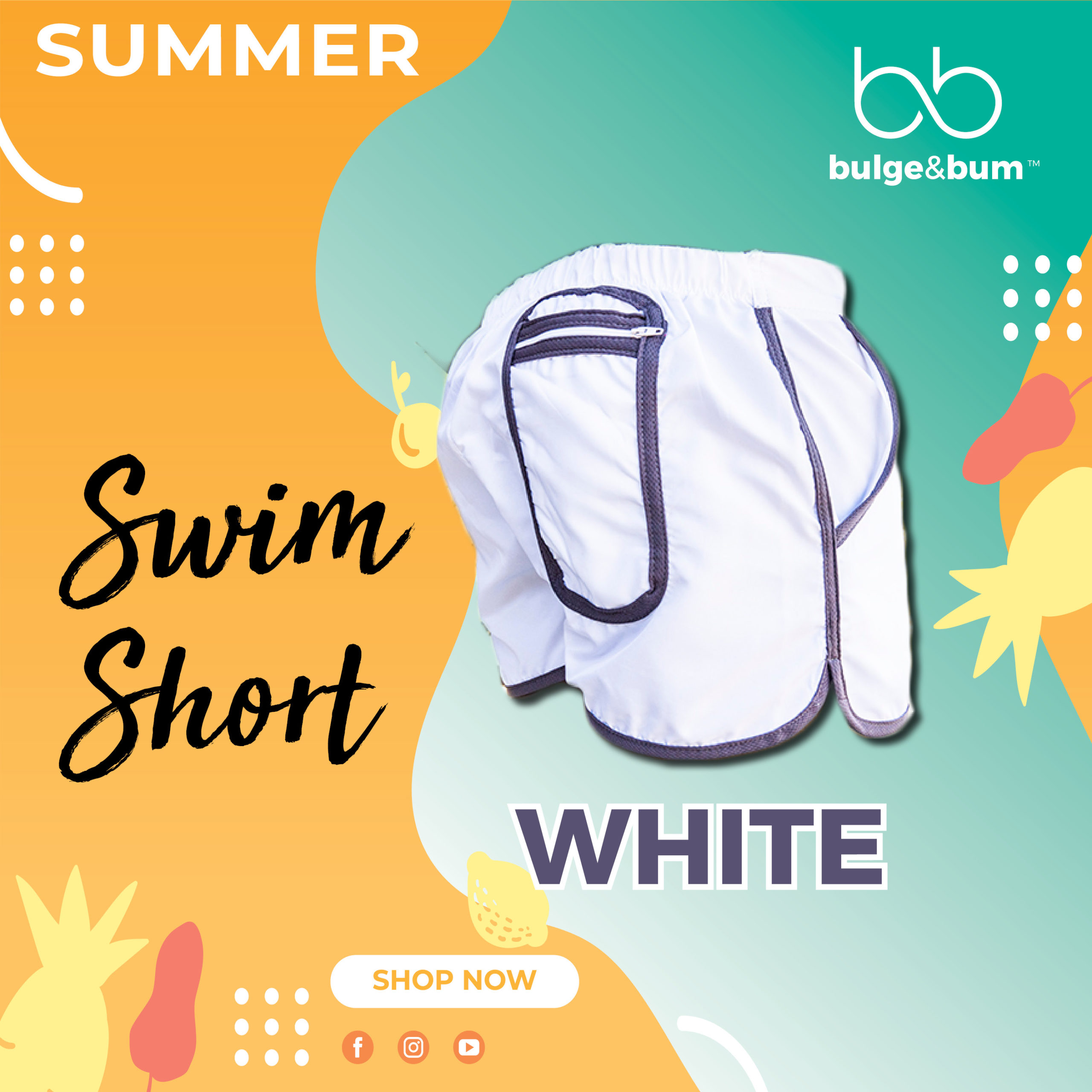 Swim Short White